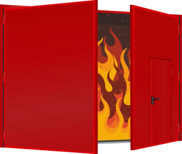 Ворота противопожарные