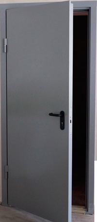 Дверь противодымная металлическая