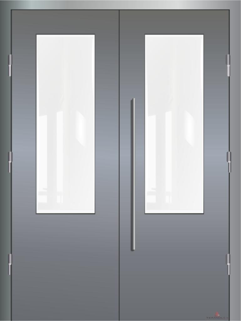 Дверь двойная металлическая
