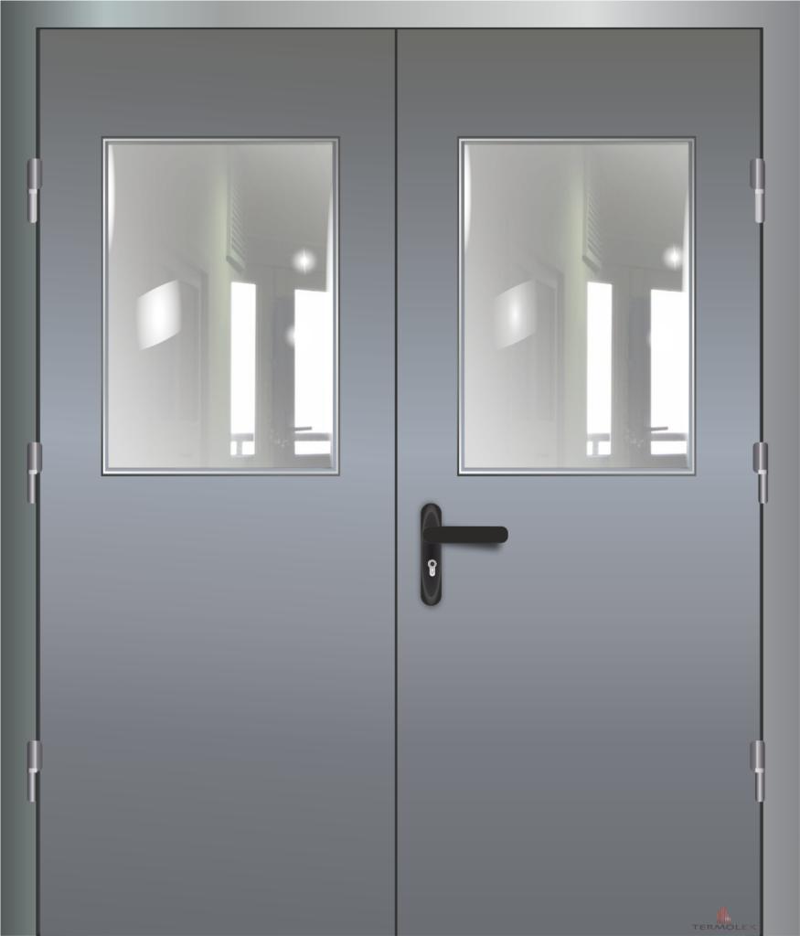 Дверь противопожарная двойная